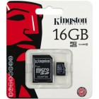microSDHC Kingston 16Gb class 10 (с адаптером на SD)