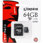 microSDXC Kingston 64Gb class 10 (с адаптером на SD)