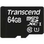 microSDXC (UHS-I) Transcend 64Gb class 10