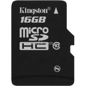 microSDHC Kingston 16Gb class 10