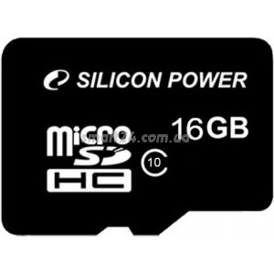 microSDHC Silicon Power 16Gb class 10